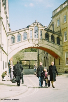 The Bridge of Sighs, looking down New College Lane. Copyright Cornelia Kaufmann
