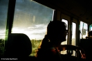 Sunset on our bus near Uluru. Copyright Cornelia Kaufmann
