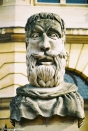 Bust outside the Sheldonian on Broad Street. Copyright Cornelia Kaufmann