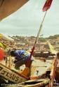 Fishing boats in the port below Cape Coast Castle. Copyright Cornelia Kaufmann
