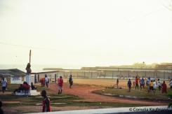 Football game near the sea. Copyright Cornelia Kaufmann