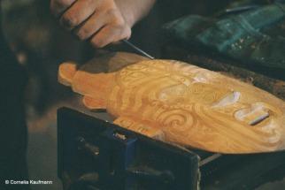 The Carving School Te Wānanga Whakairo Rakau. Copyright Cornelia Kaufmann