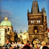 Tower on the Old Town side of the Charles Bridge. Copyright Cornelia Kaufmann