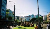 Courtenay Place in Wellington. Copyright Cornelia Kaufmann