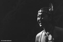 Maori woman during the cultural performance at Te Puia in Rotorua. Copyright Cornelia Kaufmann