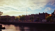 The Spire on O'Connell Street seen from the other side of the river Liffey. Copyright Cornelia Kaufmann