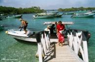 Disembarking at Puerto Villamil. Copyright Cornelia Kaufmann