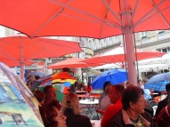 Come rain or shine, Früh Kölsch's beergarden is always packed in summer. Copyright Cornelia Kaufmann