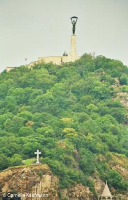 Gellért Hill on the Buda side of the city. Copyright Cornelia Kaufmann