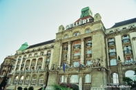The front of the Gellért Hotel & Thermal Baths. Copyright Cornelia Kaufmann