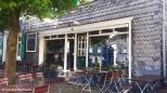 Café at Gräfrath marketplace in traditional slate style. Copyright Cornelia Kaufmann