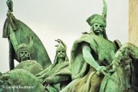 Statues at Hero's Square. Copyright Cornelia Kaufmann