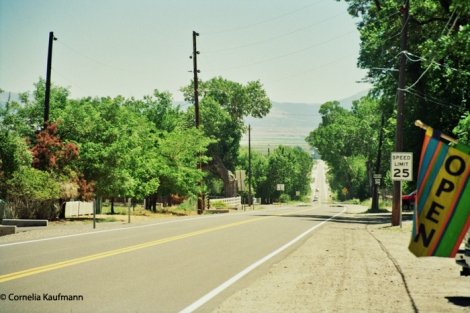 Nevada 206 towards Minden, part of the old Pony Express Route. Copyright Cornelia Kaufmann
