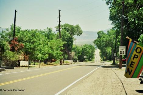 Nevada 206 towards Minden, part of the old Pony Express Route. Copyright Cornelia Kaufmann
