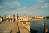 Prague seen from the Charles Bridge (Malá Strana side). Copyright Cornelia Kaufmann