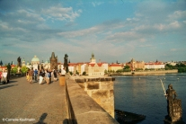 Prague seen from the Charles Bridge (Malá Strana side). Copyright Cornelia Kaufmann