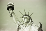 Close up of the Statue of Liberty. Copyright Cornelia Kaufmann
