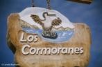 Los Comoranes street sign in Puerto Villamil. Copyright Cornelia Kaufmann