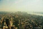 View of Lower Manhattan from the top of the Empire State Building. Copyright Cornelia Kaufmann