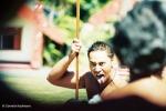 Maori challenge, te puia, Rotorua, New Zealand, warrior, toa, kapa haka, welcome cermony, powhiri. Copyright Cornelia Kaufmann