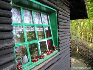 Hut in the fairytale forest Ittertal. Copyright Cornelia Kaufmann