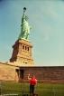 Me at the Statue of Liberty. Copyright Cornelia Kaufmann