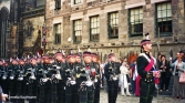 Military practice on the Royal Mile in the run-up to the Royal Military Tattoo. Copyright Cornelia Kaufmann