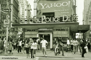 NYPD at Times Square, New York. Copyright Cornelia Kaufmann