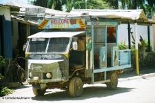 The island taxi operated by Papitas. Copyright Cornelia Kaufmann