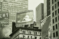 """Eternally yours"" Phantom of the Opera billboard at Times Square. Copyright Cornelia Kaufmann"