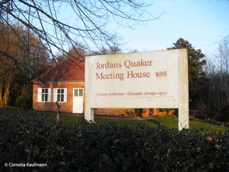 The 1688 Quaker Meeting House in Jordans, Buckinghamshire. Copyright Cornelia Kaufmann
