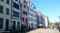 Colourful houses along the Rheingarten, near Pegelturm. Copyright Cornelia Kaufmann