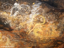 Aboriginal artwork in one of the caves. Copyright Cornelia Kaufmann
