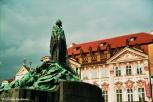 Statue of Old Town Square. Copyright Cornelia Kaufmann