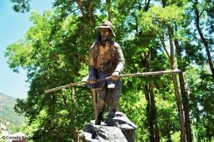 "Statue of John ""Snowshoes"" Thompson near the Mormon Station. Copyright Cornelia Kaufmann"