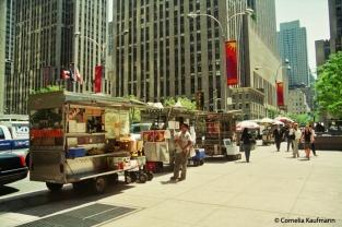 Bagel and coffee vendors. Copyright Cornelia Kaufmann
