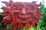 Representation of the sun at Intinan. Copyright Cornelia Kaufmann
