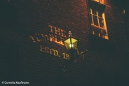 Night-time lighting, Temple Bar Building. Copyright Cornelia Kaufmann