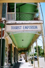 Tourist Emporium in Quorn, opposite the Railway Station. Copyright Cornelia Kaufmann