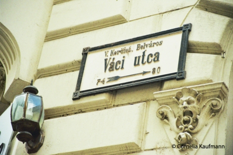 Váci Utca in Budapest. Copyright Cornelia Kaufmann