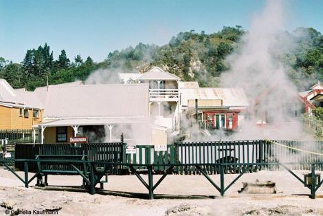 Whakarewarewa Thermal Village. Copyright Cornelia Kaufmann