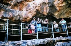 Platform accessing the cave paintings at Yourambulla. Copyright Cornelia Kaufmann
