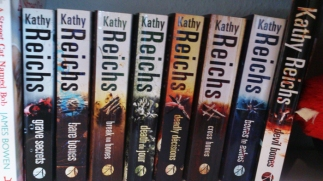 Part of my Kathy Reichs collection