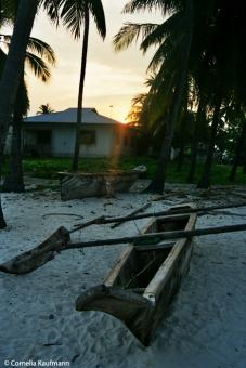 Sunset at Jambiani, Zanzibar. Copyright Cornelia Kaufmann