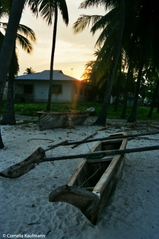 Sunset at Jambiani, Zanzibar. Copyright Cornelia Kaufmann