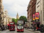 Whitehall seen from Trafalgar Square with Big Ben and Trafalgar Studios. Copyright Cornelia Kaufmann