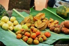Fruit stall with starfruit, Zanzibar. Copyright Cornelia Kaufmann