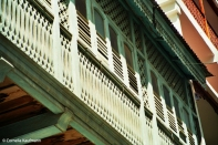 Indian, Arabic and African influences on the architecture of Stone Town. Copyright Cornelia Kaufmann