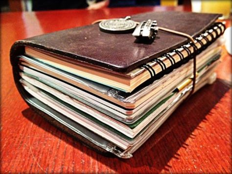 A Midori Traveler's Notebook used to its full potential.