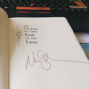 Neil Gaiman signed a copy of The Ocean at the End of the Lane
